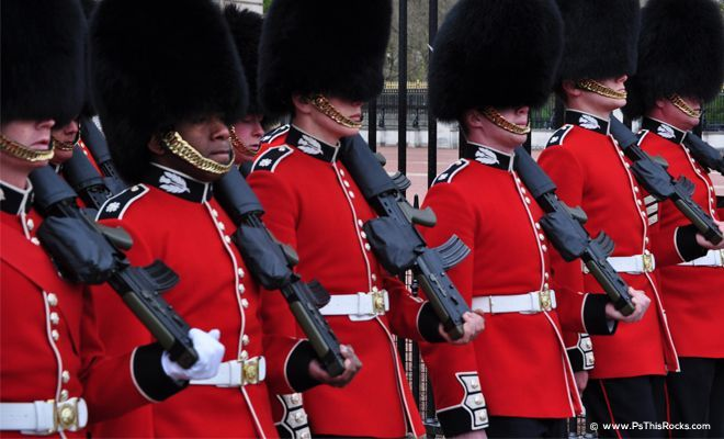 London Guards ready to march