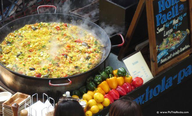 gigantic pan of Paella