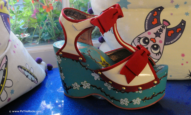 hand painted shoes, funny heels shoes, designer shoes, Irregular Choice,