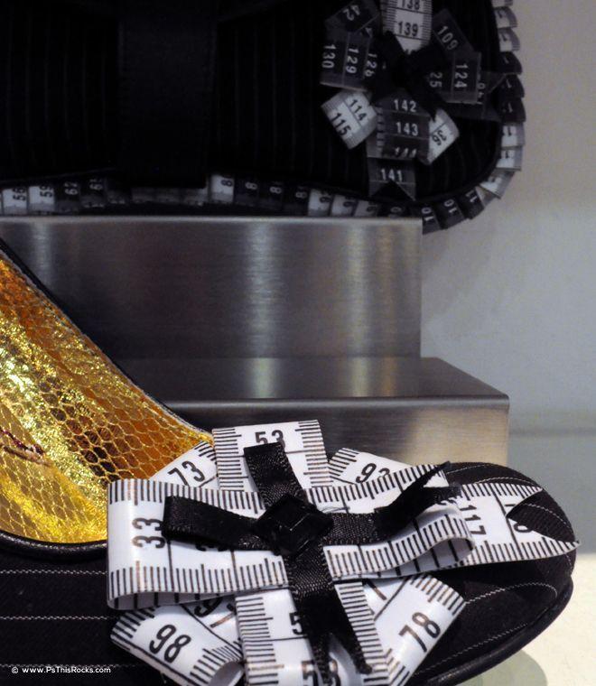 measuring tape shoe, funny heels shoes, designer shoes, Irregular Choice,