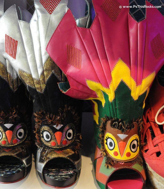 owl shoe, funny heels shoes, designer shoes, Irregular Choice,