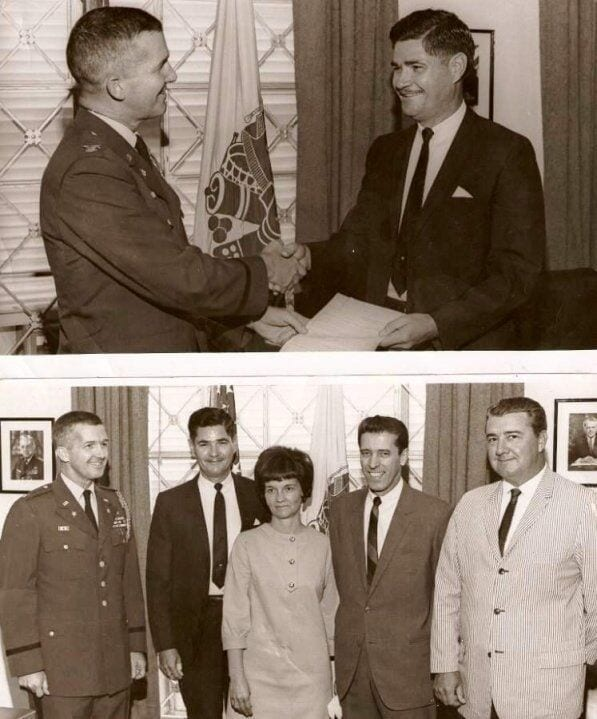 army soldier, army attache, receiving award, alzheimer's disease patient story