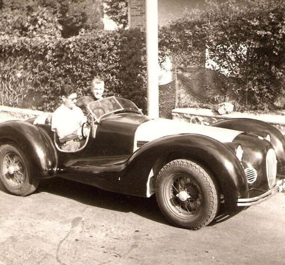 an Alfa Romeo that had an aluminum body and had been handmade for Mussolini.