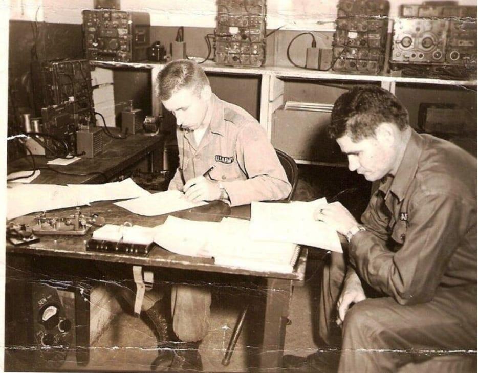 before alzheimer's disease army attache working on morris code in turkey, bangkok, germany,
