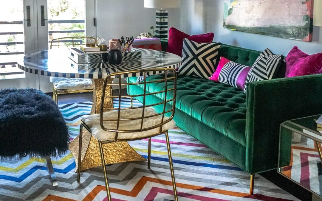 Rockstar Review Lounge in Dallas Showhouse by Blake Sheltons