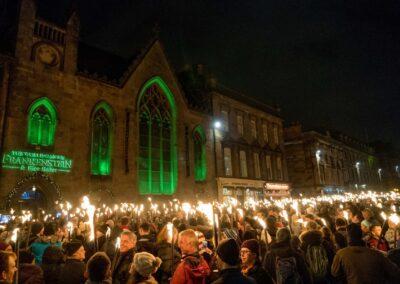 Edinburgh Scotland On Fire for New Year's Eve Hogmanay Festivities