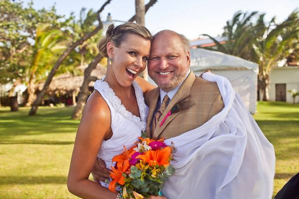Randy Eller + Christi Tasker at Christi and Boyd Tasker's Wedding in the Dominican Republic