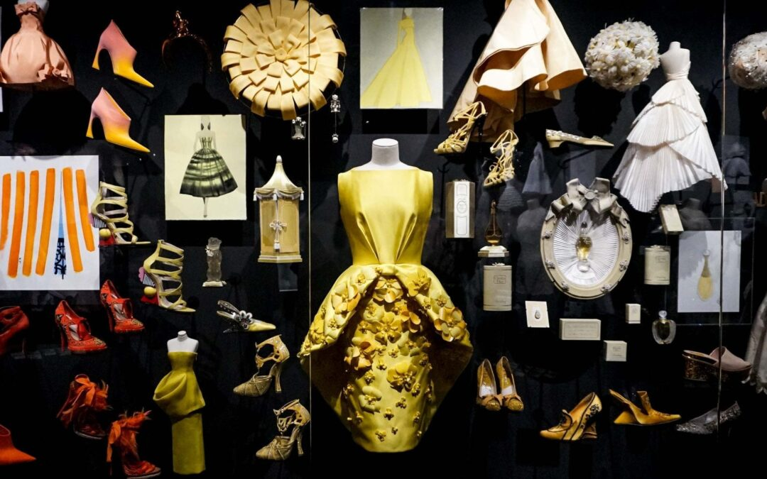 Christian Dior Museum, 300 Awesome Couture Dresses by Christian Dior From The 70th Anniversary Exhibition in Museum in Paris, France
