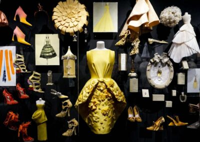 300 Awesome Couture Dresses by Christian Dior From The 70th Anniversary Exhibition in Museum in Paris, France