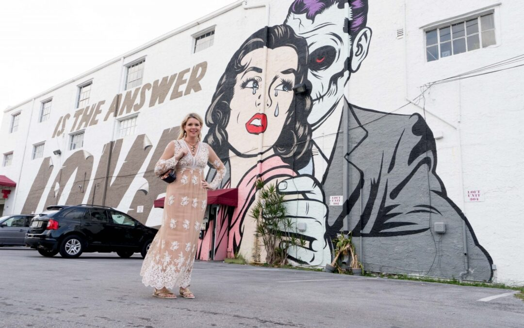 "Good-bye D-Face ""Love Is The Answer"" Wynwood Wall Mural at Casa Wynwood, Hello Something New"