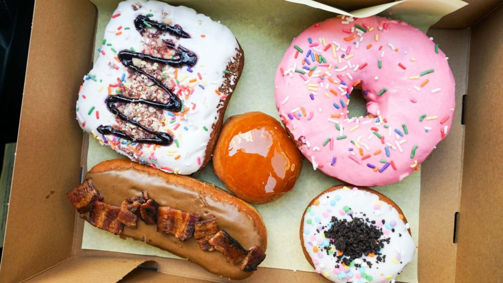 donut bar, Coffee or Beer? Have Either At Donut Bar Las Vegas Plus a Creme Brulee, Pop-Tart or Grilled Cheese Donut